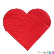 מפיות גדולות לב אדום