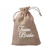 שקית יוטה טבעית Team Bride