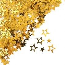 קונפטי כוכב חלול - זהב
