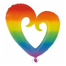 בלון מיילר ענק לב חלול צבעוני