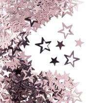 קונפטי כוכב חלול - רוז גולד