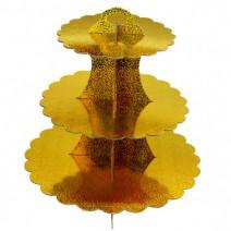 מעמד לקאפקייקס - זהב הולוגרפי