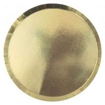 צלחות גדולות הולוגרפיות - זהב