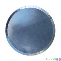 צלחות קטנות הולוגרפיות - תכלת
