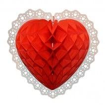 קישוט כוורת לב אדום