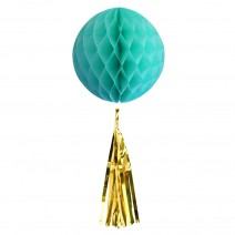 כדור מנטה עם טאסל זהב