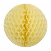 """כדור  כוורת 30 ס""""מ - צהוב פסטל"""