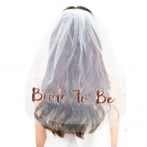 הינומה Bride to Be רוז גולד