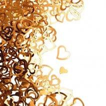 קונפטי לב חלול - זהב