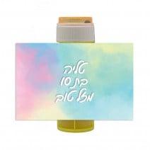 מדבקות לבועות סבון פסטל ססגוני