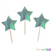 טופרים כוכבים טורקיז ססגוני