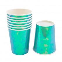 כוסות נייר טורקיז ססגוני