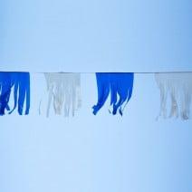 שרשרת טאסל כחול לבן