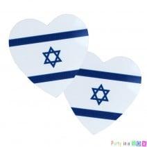 סיכת לב דגל ישראל אור