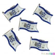 סיכת דגל ישראל אור