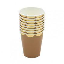 כוסות נייר קראפט זהב