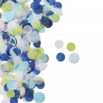 קונפטי נייר כחול ירוק