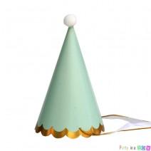 כובעי מסיבה מנטה זהב