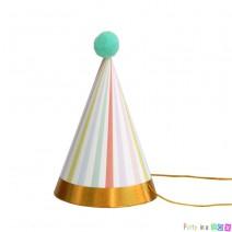 מיני כובעי מסיבה פסטל זהב