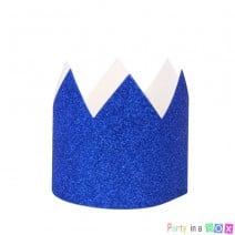 סט מיני כתרים גליטר כחול