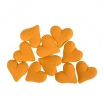 קישוטים מבצק סוכר לבבות זהובים