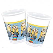 כוסות פלסטיק המיניונים