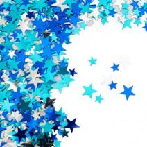 קונפטי כוכבים מיקס כחול
