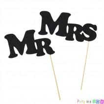 שלטי Mr & Mrs - שחור