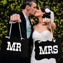 שלטים Mr ו- Mrs