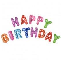בלוני Happy Birthday צבעוני כוכבים