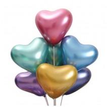 בלוני לב כרום צבעוני