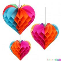 כדורי כוורת לבבות צבעוניים