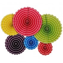 סט מניפות נייר צבעוניות