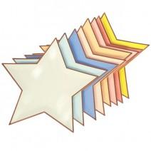 צלחות כוכבים צבעי פסטל