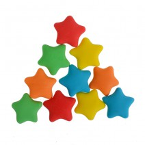 קישוטים מבצק סוכר כוכבים צבעוניים