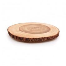 "פלטת בול עץ טבעי - 25 ס""מ"