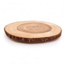 "פלטת בול עץ טבעי - 30 ס""מ"