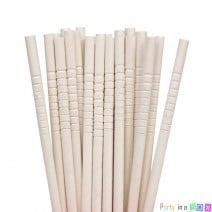 קשיות נייר חלקות - לבן