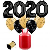 חבילת הליום New Year שחור
