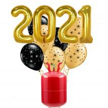 חבילת הליום New Year זהב