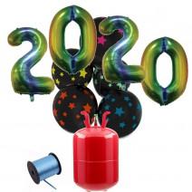 חבילת הליום New Year צבעוני