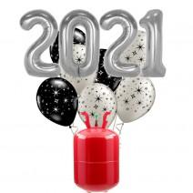 חבילת הליום New Year כסף
