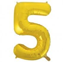 בלון מיילר זהוב - מספר 5