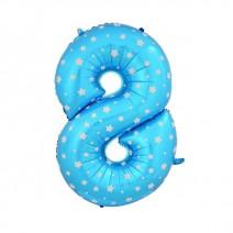 בלון מיילר כחול כוכבים - ספרה 8