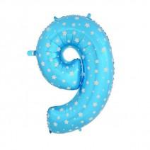 בלון מיילר כחול כוכבים - ספרה 9