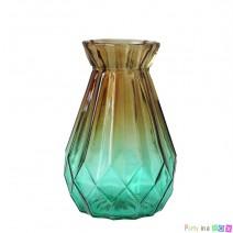 אגרטל זכוכית אומברה חום ירוק