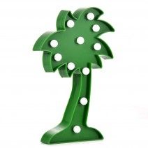 מנורת לד עץ דקל