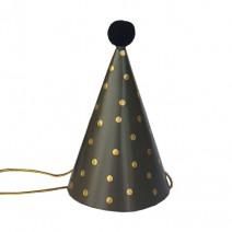 מיני כובעי מסיבה שחור נקודות