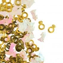 קונפטי חתונה ססגוני זהב