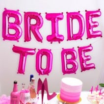 בלוני מיילר Bride to Be ורוד